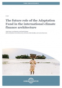 Cover The future role of the Adaptation Fund in the international climate finance architecture