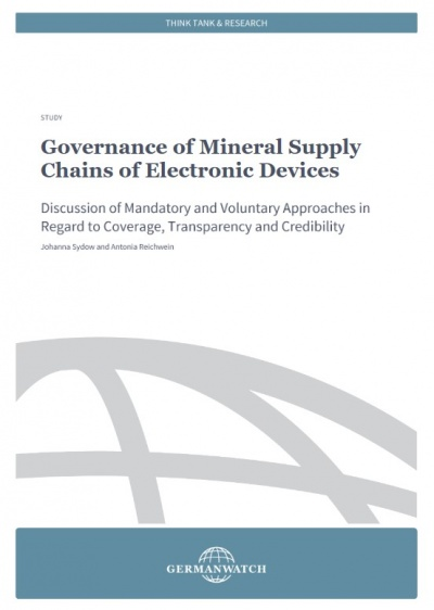 Cover: Governance of Mineral Supply Chains of Electronic Devices