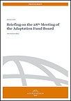 Briefing on the 28th meeting of the Adaptation Fund Board_Cover