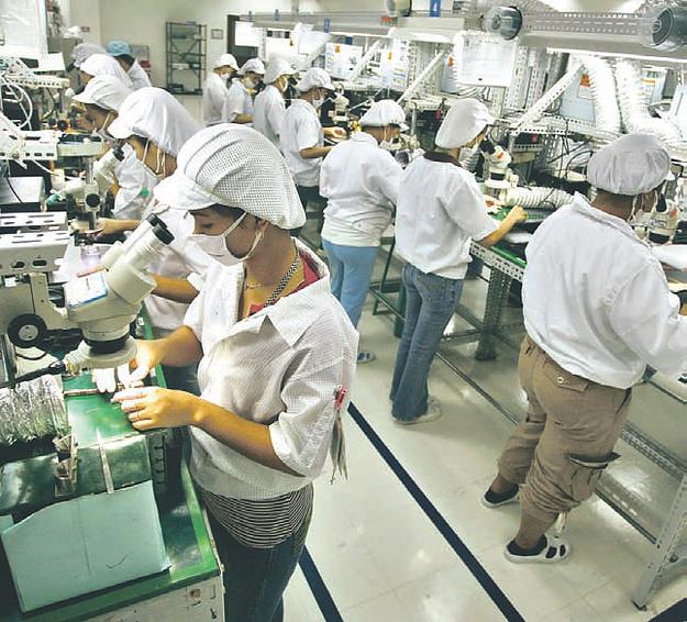 Beschäftigte der philippinischen Elektroindustrie
