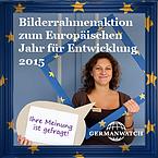 Germanwatch Bilderrahmenaktion zum Europäischen Jahr für Entwicklung 2015