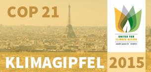 COP 21 - der Weltklimagipfel 2015 in Paris