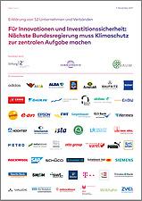 Cover: Unternehmenserklärung für Innovation und Innovationssicherheit