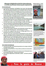 Cover Factsheet Huaraz deutsch