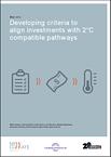 Cover: Kriterien für 2 Grad kompatible Investitionen