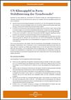 Cover: UN-Klimagipfel in Paris: Stabilisierung der Trendwende?