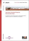 Deckblatt: German Climate Finance - Put To The Test