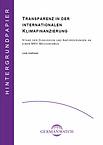 Deckblatt: Transparenz in der internationalen Klimafinanzierung