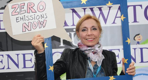 Dr. Koko Warner beim Klimaaktionstag 2015, Bonn