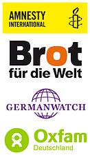 Logos: GW, AI, BfdW, Oxfam