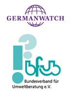 Logos Germanwatch und BFUB - Bundesverband für Umweltberatung