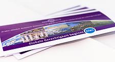 Cover: Flyer Globale Gerechtigkeit beginnt hier 25 Jahre Germanwatch.
