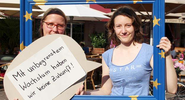 Iris Volg und Anna Grimminger, Teilnehmerinnen Erdueberlastungstag