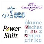 Logos CiR, Germanwatch, Powershift, Ökumenisches Netz Zentralafrika