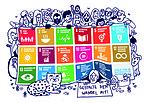 """Bild: SDG-Postkarte für den Kirchentag """"Gestalte den Wandel mit!"""""""