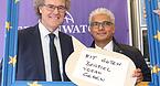 Ashok-Alexander Sridharan (OB Bonn) und Prof. Dr. Jakob Rhyner (Repräsentant der UN, Deutschland), beim UN-Tag 2015