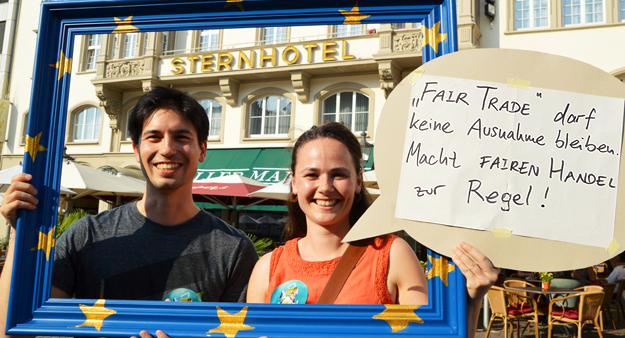 Theresa Fabian und Martin Weigelt, Teilnehmer Erdueberlastungstag