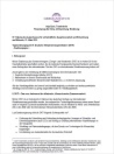Deckblatt: Positionspapier zur Deutschen Klimatechnologieinitiative