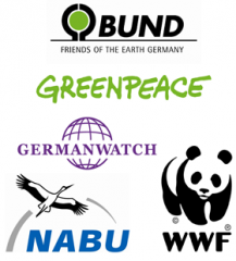 Logos: Germanwatch Greenpeace BUND NABU WWF
