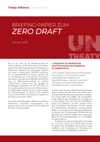 Briefing-Papier zum Zero Draft