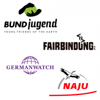 Logoleiste Germanwatch, BUNDjugend, NAJU, Fairbindung