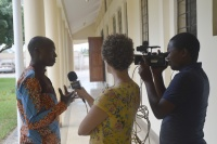 East African Media representatives interviewing ECL-participants on the program and their own organizations