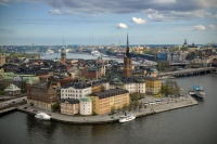 Riddarholmen from Stockholm City Hall tower