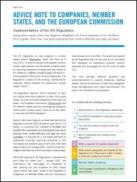 Advice note to companies, member states, and the European Commission