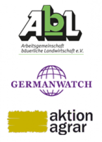 Logos AbL, Germanwatch, Aktion-Agrar