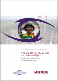 Cover: 2017 Report: The Global Energy Sector and Human Rights