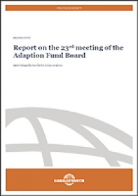 Cover Report on the 23rd meeting of the Adaption Fund Board