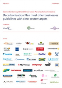 Cover Statement Decarbonisation Plan 2050