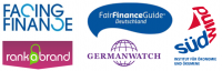 Logos Facing-Finance, Germanwatch, SüdWind, Rank-a-Brand