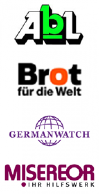 Logos ABL, BROT, Germanwatch, MISEREOR