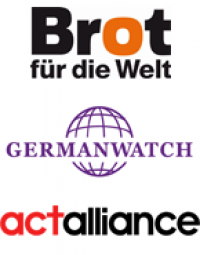 Logos Brot für die Welt, Germanwatch, act alliance