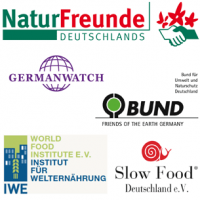 Logos Memorandum, Germanwatch, BUND, Naturfreunde, Slow Food, IWE