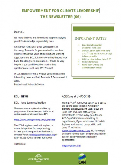 Cover ECL Newsletter 6