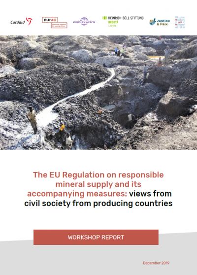 Cover: Workshop EU Regulation on responsible mineral supply