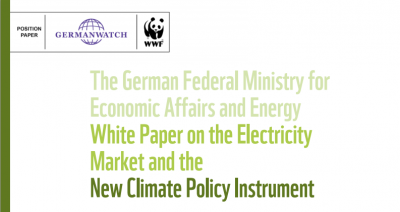 Cover White Paper on the Electricity Market and the New Climate Policy Instrument