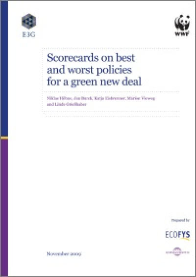 Cover: Scorecards on best and worst policies for a Green New Deal