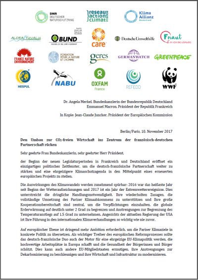 Cover: Brief an Merkel und Maccron deutsch
