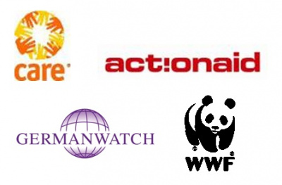 Logos actionaid care germanwatch wwf